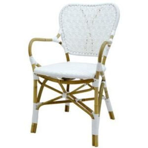 Buy Luxury Clemente Arm Chair - Natural/White Online in NSW