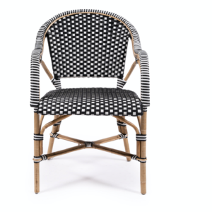 Buy Luxury Luxe Mykonos Black and White Armchair Online in NSW