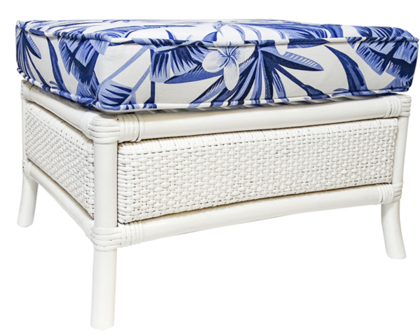Buy Luxury Cayman White Foot Stool Online in NSW