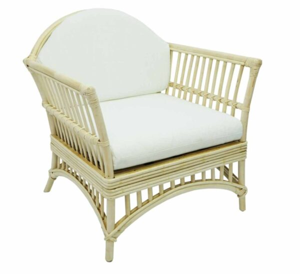 Buy Hayman Alfresco Natural Rattan Armchair with White Cushions Online in NSW
