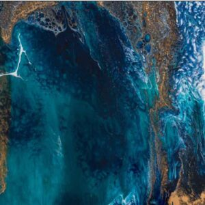 Buy Luxury Blue Jewel - Abstract 915x1295 Canvas in NSW