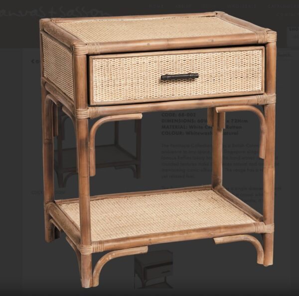 Island Bedside Table - Hamptons Style Furniture