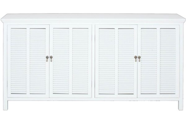New Hampshire 4 Door White Buffet - Hamptons Style Furniture