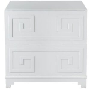 Buy Athens Key Bedside Table White in Australia
