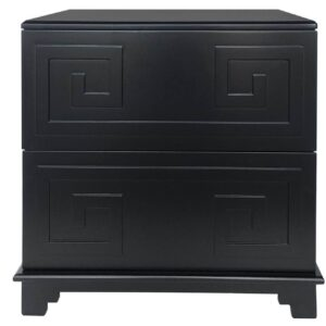 Buy Athens Key Bedside Table Black in Australia