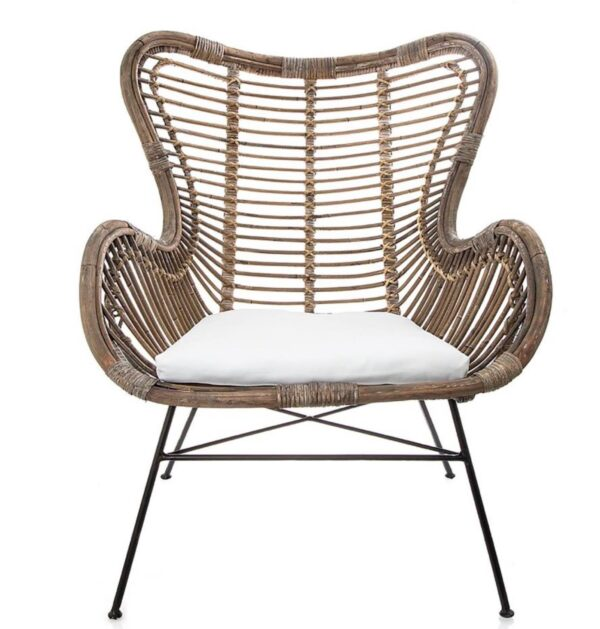 Buy Bellvue Hill Wing Chair Back Chair With Cushion Natural Online in NSW