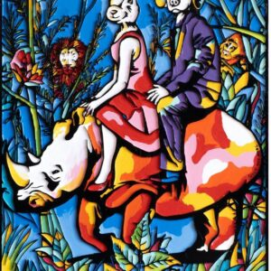 """Gillie and Marc Limited Print - """"They were the original rhino riders"""" in Australia"""