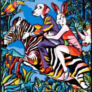 """Gillie and Marc Limited Print - """"They were the original zebra riders"""" in Australia"""