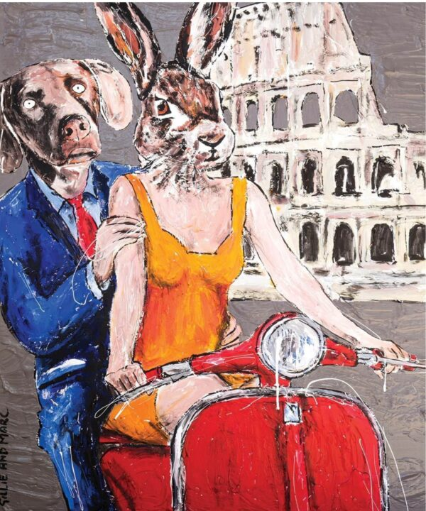 """Gillie and Marc Limited Print - """"They always ride together in Rome"""" in Australia"""