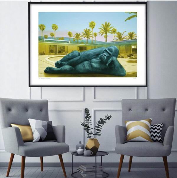 Gillie And Marc Limited Photo Print King Nyani Staying Cool In Blue
