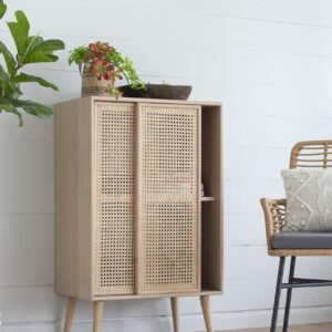 Buy Isabel Sliding Rattan Compartment Cabinet Online in NSW