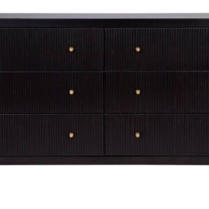 Buy Black Avalon 6 Drawer Chest in Australia