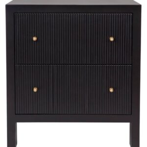 Buy Avalon Large Black Bedside Table in Australia