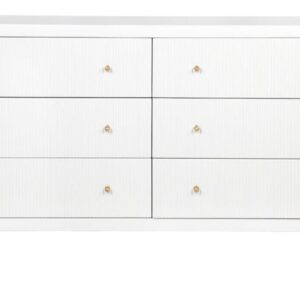 Buy Avalon 6 White Chest Drawer in Australia