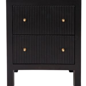 Buy Avalon Small Black Bedside Table in Australia