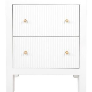 Buy Avalon Small White Bedside Table in Australia