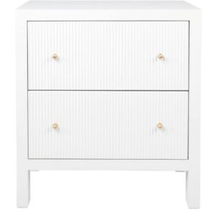 Buy Avalon Large White Bedside Table in Australia